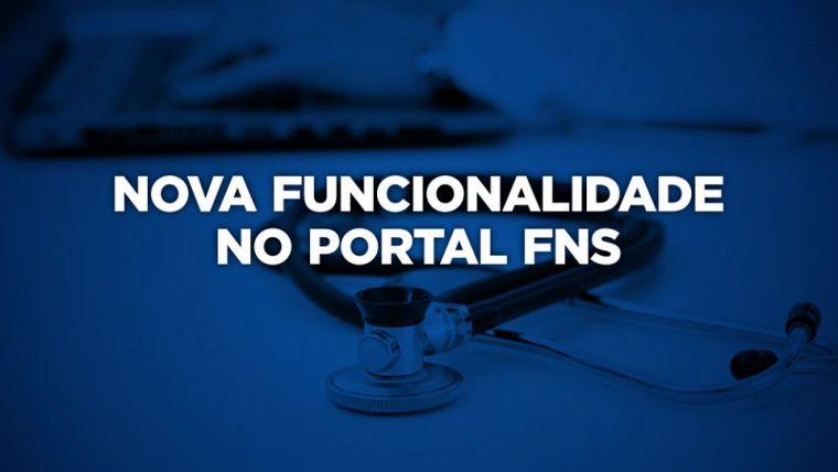 Nova funcionalidade no portal FNS