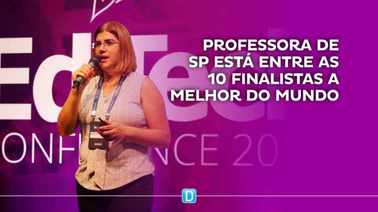 Professora de SP esteve entre as 10 finalistas a melhor do mundo