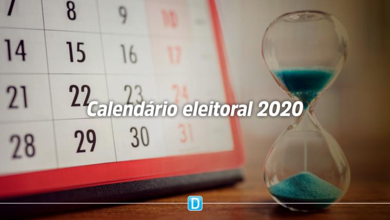 Confira as principais datas do calendário eleitoral 2020