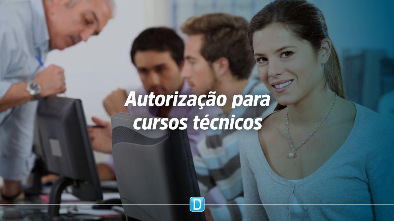 Autorização para cursos técnicos
