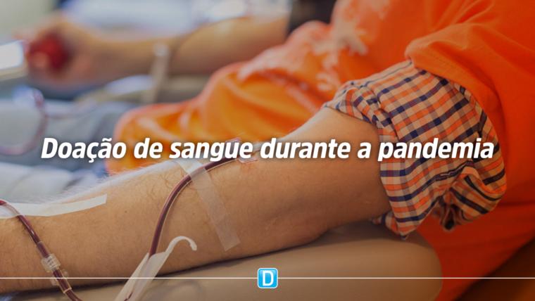 Doação de sangue não pode parar com pandemia, orienta Ministério da Saúde
