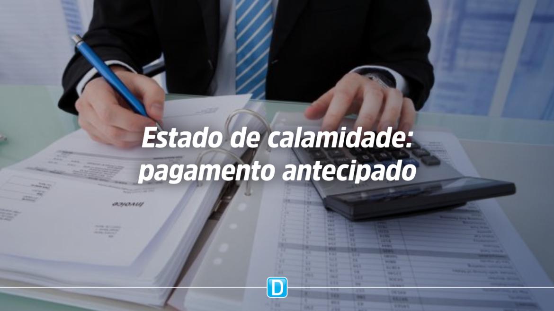 Medida Provisória autoriza antecipação de pagamentos em contratações realizadas durante estado de calamidade