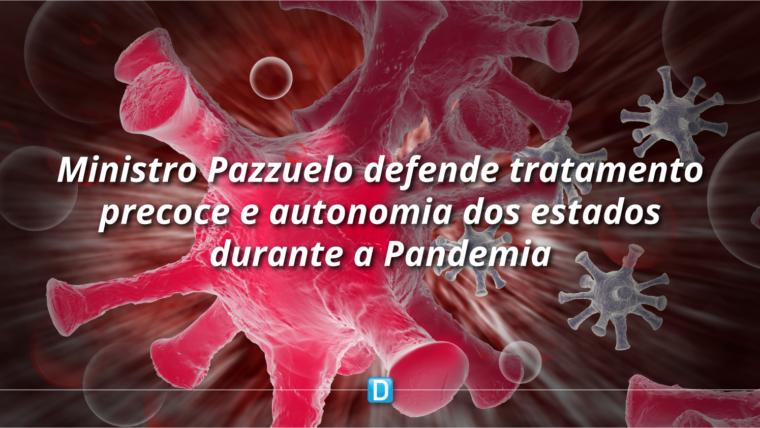 Pazuello defende tratamento precoce e ressalta a autonomia dos municípios e dos estados nas decisões do combate ao coronavírus