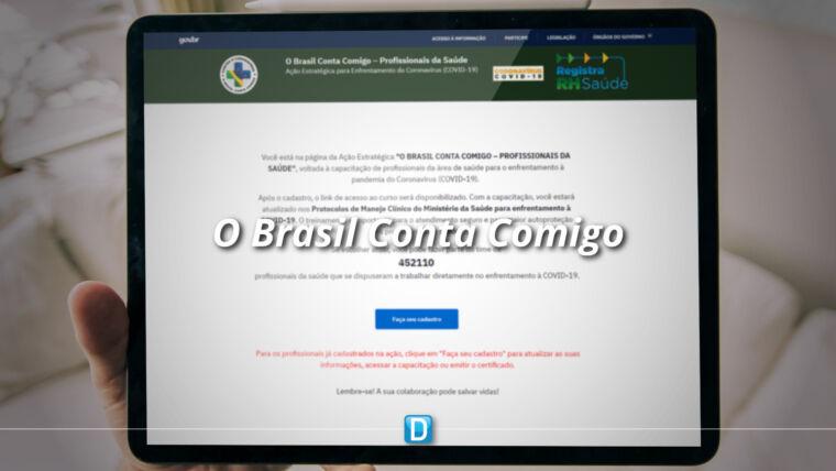 """""""O Brasil Conta Comigo – Profissionais da Saúde"""" agora em novo link de acesso"""
