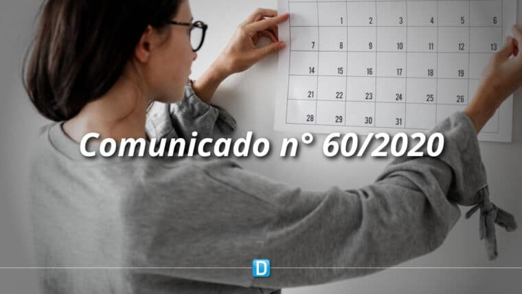 COMUNICADO Nº 60/2020 – NOVO CRONOGRAMA PARA EXECUÇÃO DAS EMENDAS INDIVIDUAIS (COM FINALIDADE DEFINIDA/INSTRUMENTOS) – ORÇAMENTO 2020- RP 6