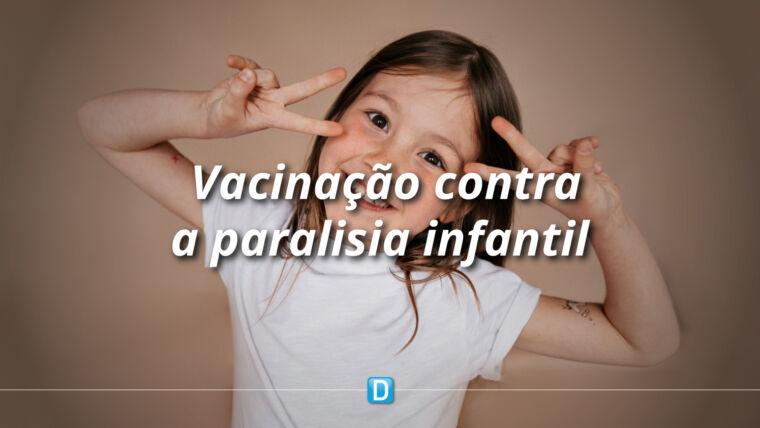 Paraná vacinou 265 mil crianças contra a paralisia infantil