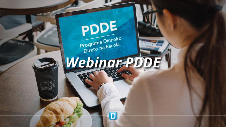 Webinar aborda recursos emergenciais do PDDE no período de pandemia