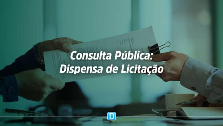 Ministério da Economia abre consulta pública sobre dispensa de licitação