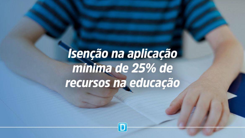 PEC que impede penalizar gestores por mínimo de 25% da educação em 2020 começa a tramitar no Senado