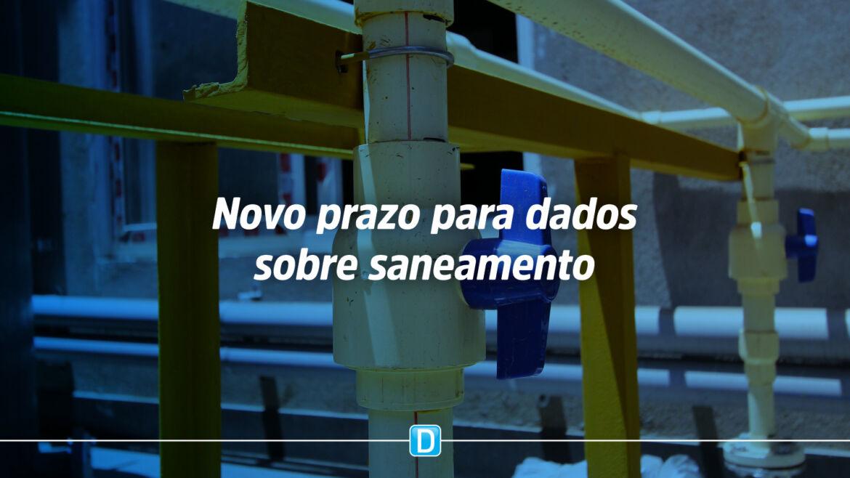 Municípios têm até 11 de junho para enviarem dados sobre saneamento