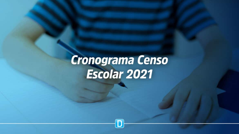 Cronograma do Censo Escolar da Educação Básica 2021