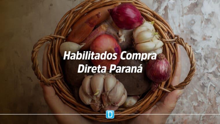 Governo do Paraná divulga habilitados para o Compra Direta