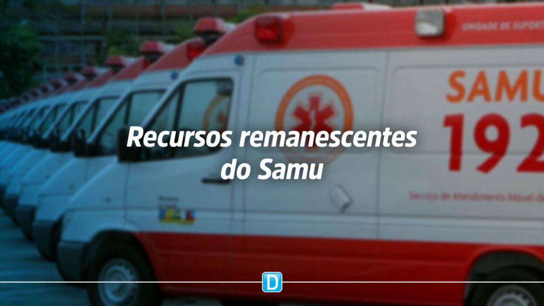 Ministério da Saúde divulga orientações sobre recursos remanescentes do Samu