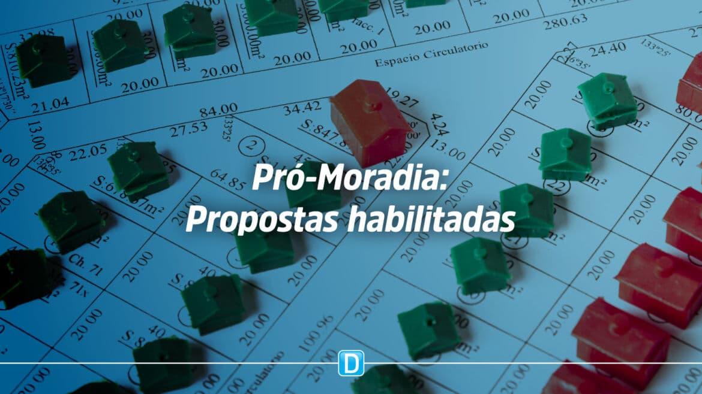 Regularização fundiária: Pró-Moradia divulga propostas habilitadas