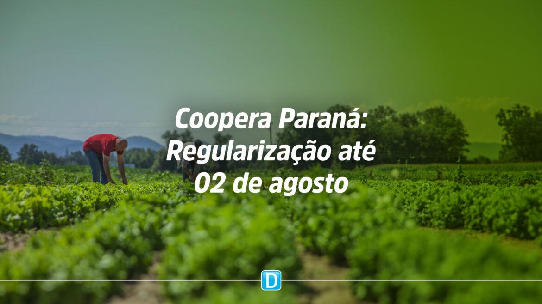 Organizações com pendências no Coopera Paraná têm até 2 de agosto para a regularização O valor total dos recursos do edital é de R$ 31,5 milhões