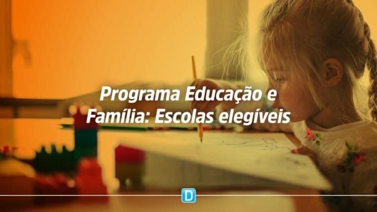 Critérios para destinação de recursos do Programa Educação e Família
