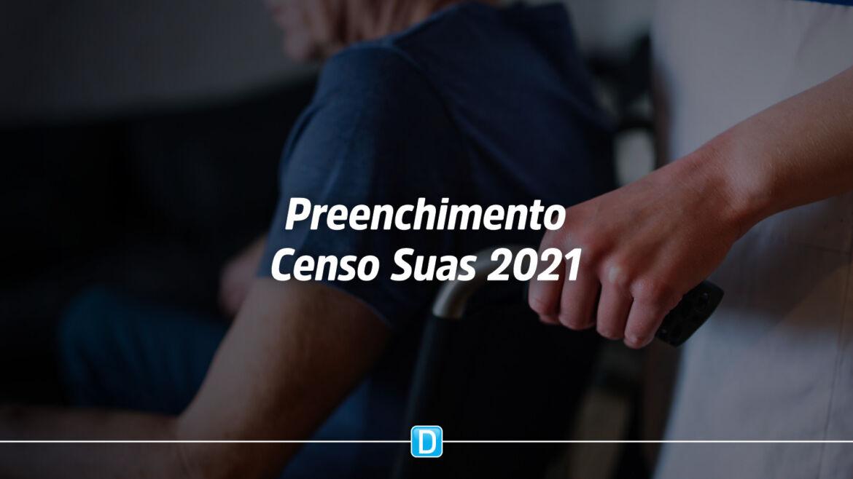 Municípios já podem preencher Censo Suas 2021